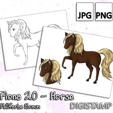 Fiona 2.0 - Horse - Braun - DigiStamp