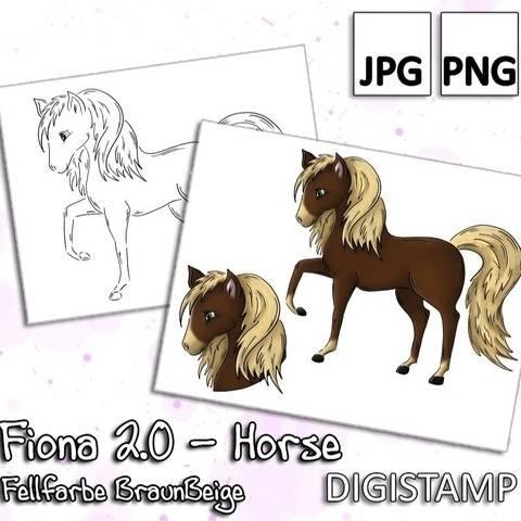 Fiona 2.0 - Horse - BraunBeige - DigiStamp