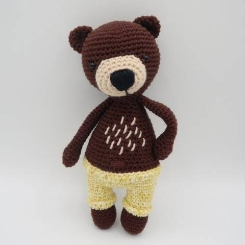 Amigurumi ours au crochet•Valentin, l'ours brun