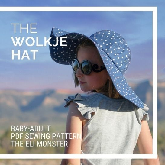The Wolkje Hat PDF Sewing Pattern, Sized Baby-Adult at Makerist - Image 1