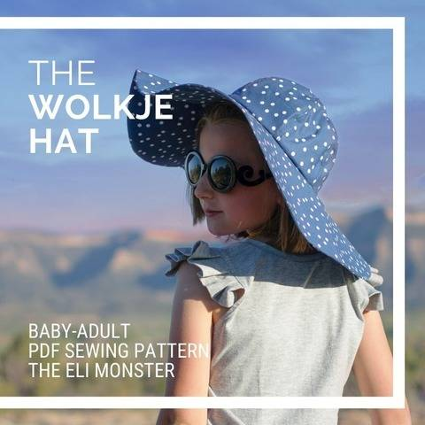 The Wolkje Hat PDF Sewing Pattern, Sized Baby-Adult