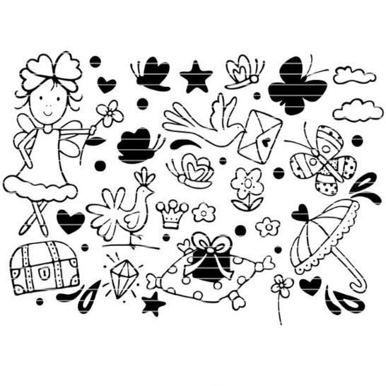 """Cutting file """"crafting fee"""" for Ironing-picture SVG DXF at Makerist - Image 1"""