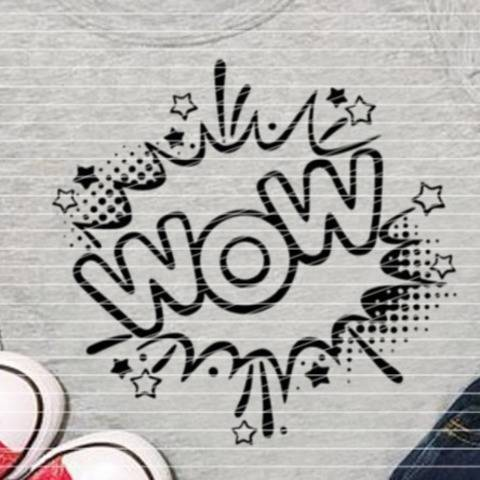 """WOW"" SVG DXF Plotterdatei"