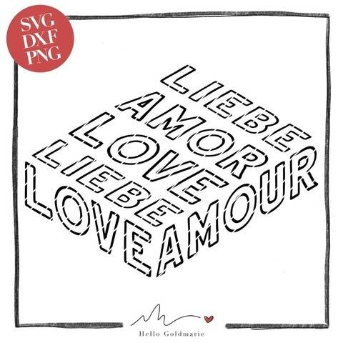 "Statement Plotterdatei ""LIEBE Love Amour"" 
