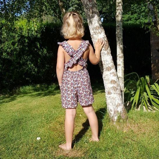 """Combishort enfant """"Jade"""" du 2 ans au 12 ans - Intermédiaire chez Makerist - Image 1"""
