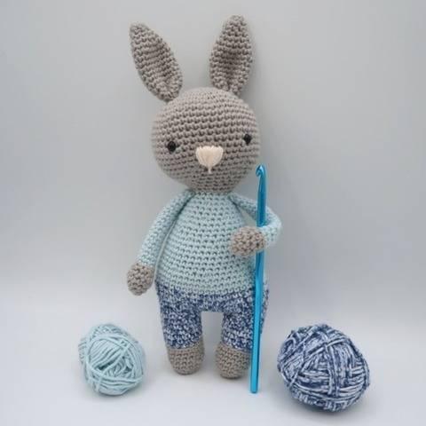 Câlin, le lapin • Amigurumi au crochet