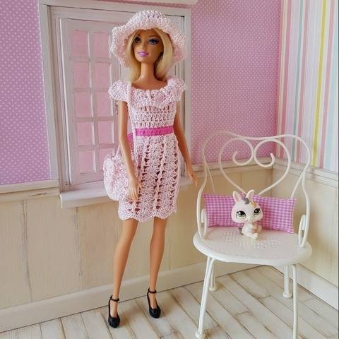 """Elegant"" crochet pattern for Barbie"