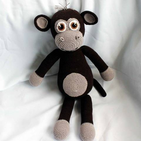 Mo the monkey XXL Crochet pattern at Makerist