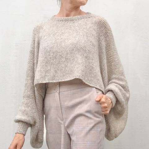 """Damen Poncho-Sweater"" / Strickanleitung"
