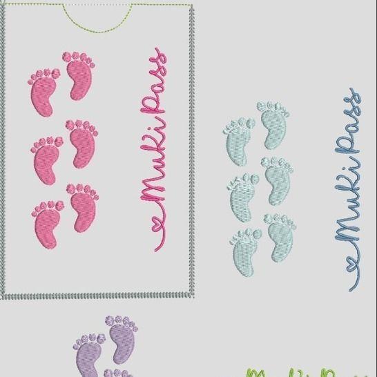 Stickdatei MuKiPass 2 Mutterkindpass  Babyfüsse bei Makerist - Bild 1