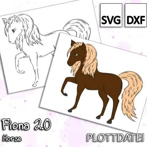Fiona 2.0 - Horse - Plottdatei