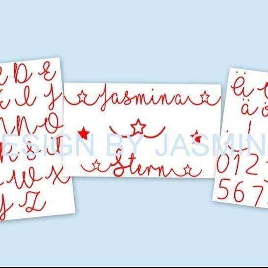 """Plotterdatei Schrift """" In Love """" Stern / Glitter  SVG  bei Makerist - Bild 1"""