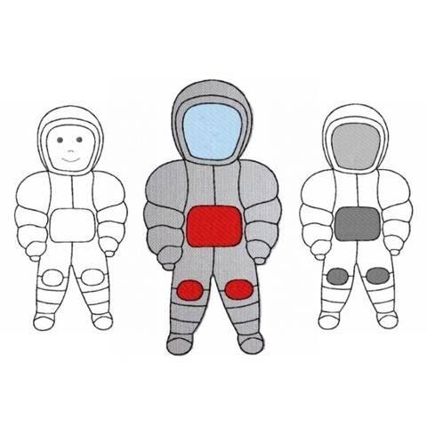 Stickdatei Astronaut 2 Größen und 2 Varianten