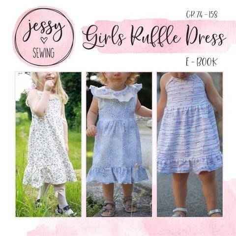 *Girls Ruffle Dress* Kleid GR. 74 BIS 158 Sommerkleid Boho