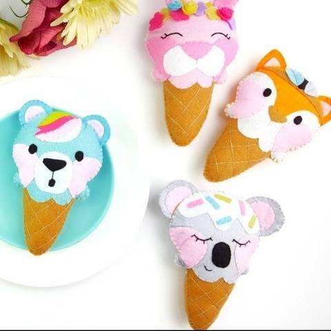 Ice-cream Animals PDF Pattern