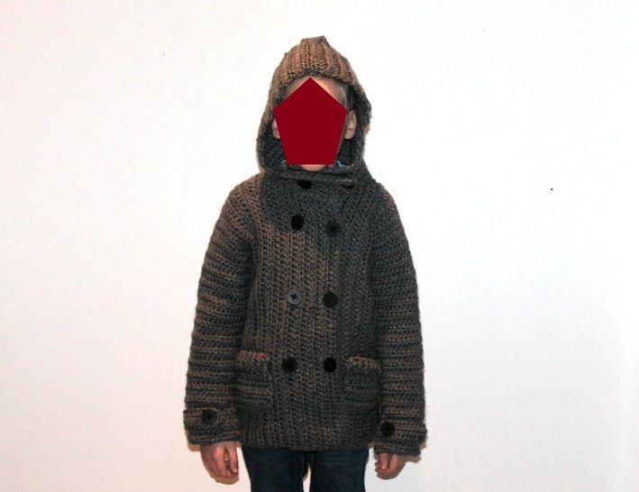 crochet pattern childrens jacket in 5 different sizes at Makerist - Image 1