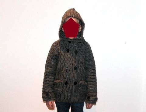 crochet pattern childrens jacket in 5 different sizes at Makerist