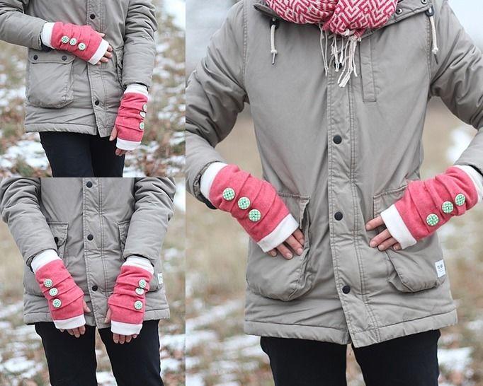 Nähanleitung Stulpen | fingerlose Handschuhe nähen bei Makerist - Bild 1