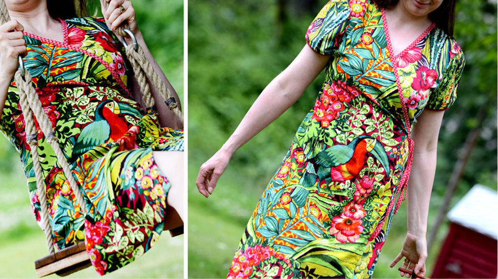 Ebook Wickelkleid Kleid ERUA bei Makerist - Bild 1