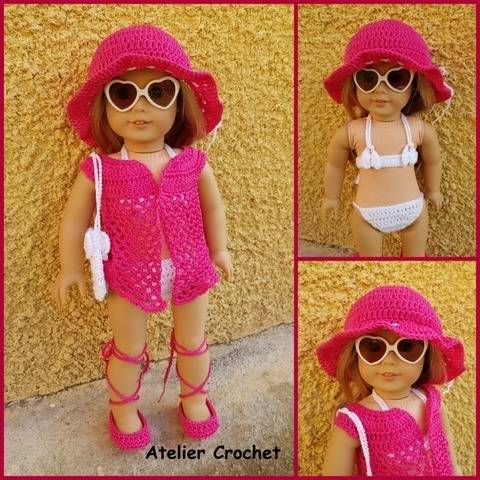 """Seaside"" crochet pattern for American Girl"