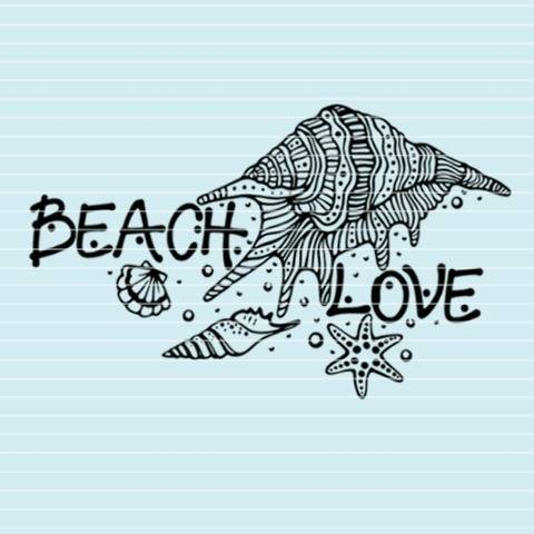 "Cutting file ""beach love"" for Ironing-picture SVG DXF"