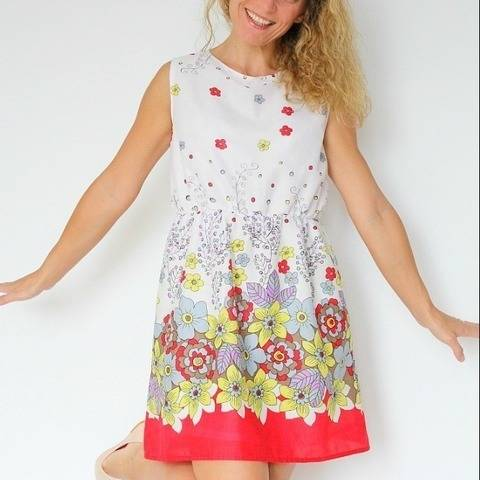 Simple summer dress pattern for women sizes 4-18
