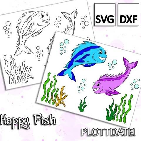 Happy Fish - Plottdatei