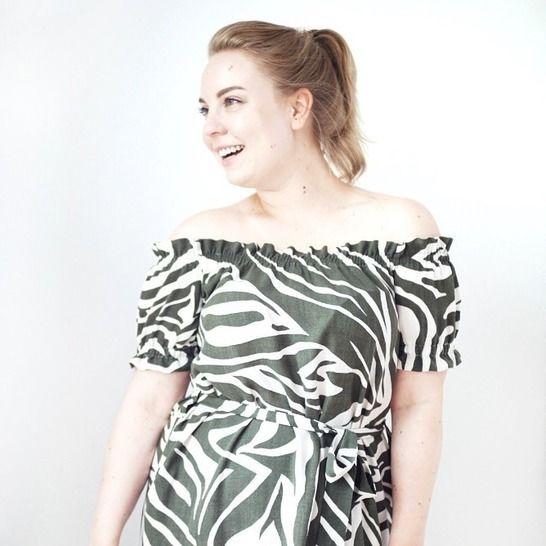 """Off-shoulder Kleid """"Sunny"""" Größe 34-46 bei Makerist - Bild 1"""
