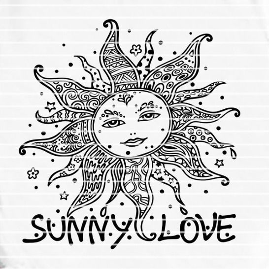 """Cutting file """"sunny love"""" for Ironing-picture SVG DXF at Makerist - Image 1"""