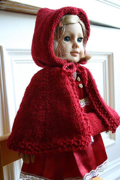 Habit Poupée Chaperon Rouge - tricot