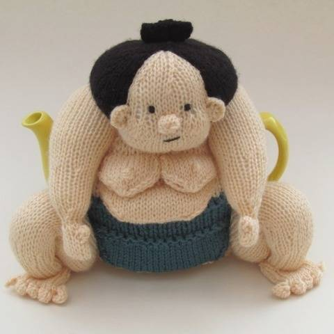 Sumo Wrestler Tea Cosy Knitting Pattern