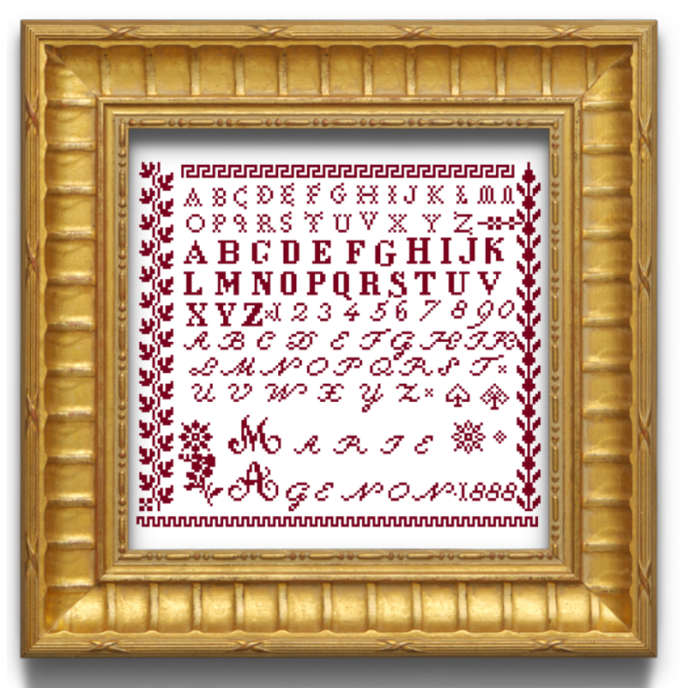 Marie Agenon 1888 - Cross stitch pattern