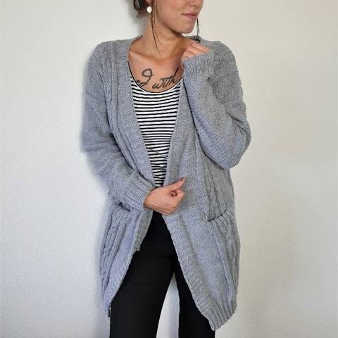 171 Strickanleitung Cardigan Strickjacke Betty