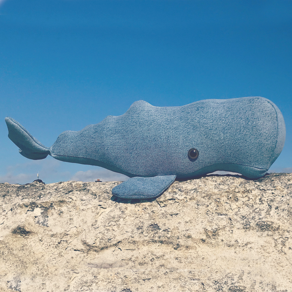 Whale - Soft toy sewing pattern - instant download pdf