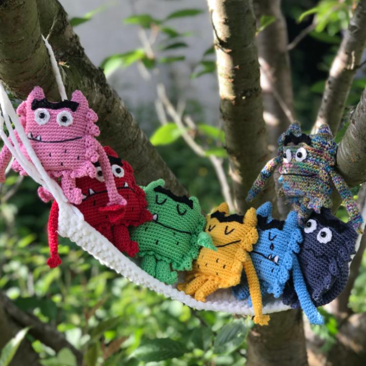 Monstre des couleurs - Tuto amigurimi - Patron crochet
