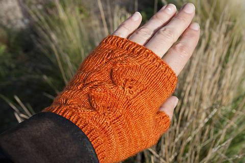 Mitaines Feuilles d'automne - tricot