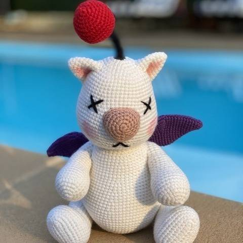 Crochet Pattern - Amigurumi Moogle Mog Final Fantasy X at Makerist
