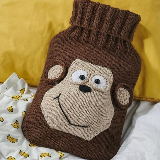 Monkey Hot Water Bottle Cover at Makerist - Image 1
