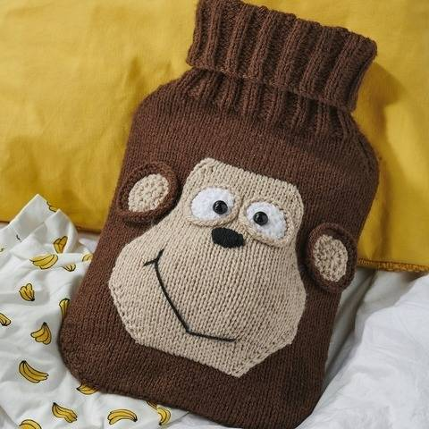 Monkey Hot Water Bottle Cover at Makerist