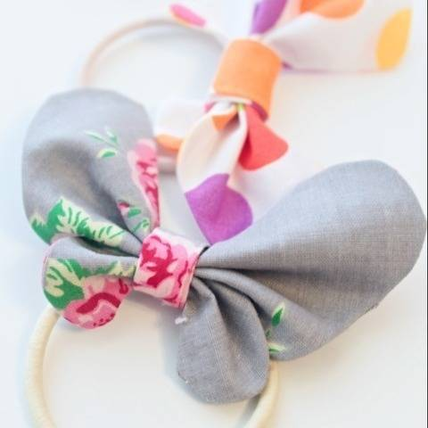 Butterfly hair bow pattern