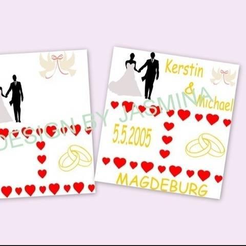 Plotterdatei  SVG, Hochzeit Template 1 Brautpaar