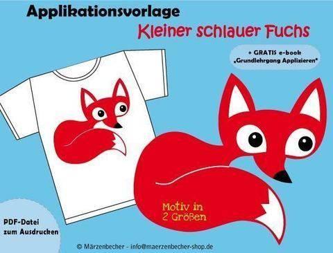 Kleiner schlauer Fuchs - Applikationsvorlage