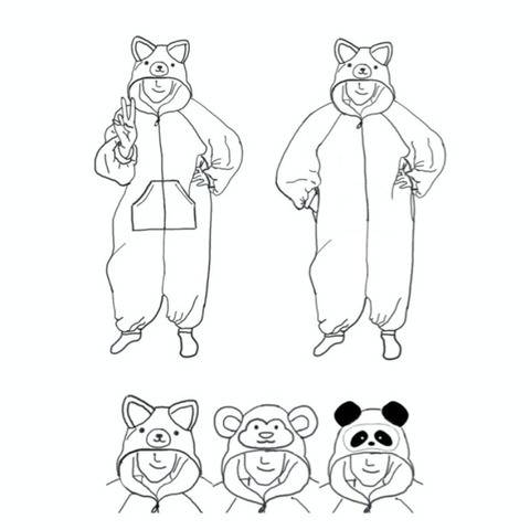 KIGURUMI (ANIMAL ONESIE) PDF SEWING PATTERN - ADULT/TEEN V2 at Makerist