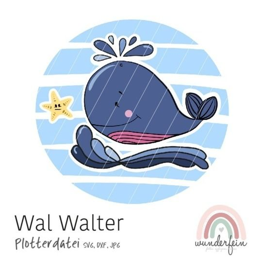 Plotterdatei Wal Walter bei Makerist - Bild 1