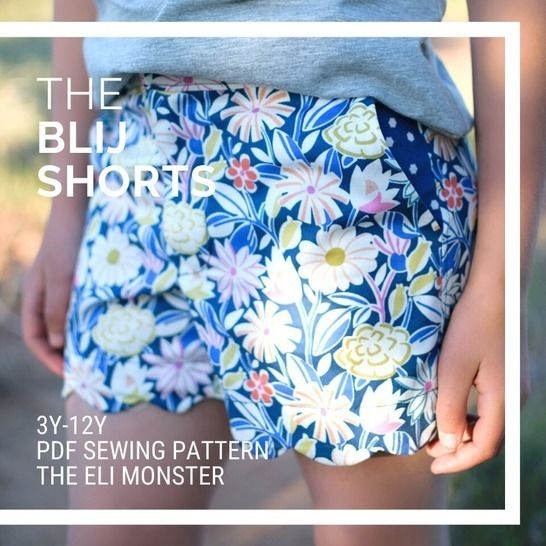 The Blij Shorts Sewing Pattern for Sizes 3-12y at Makerist - Image 1