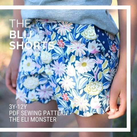 The Blij Shorts Sewing Pattern for Sizes 3-12y