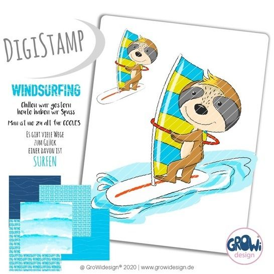 windsurferFAULI DigiStamp bei Makerist - Bild 1