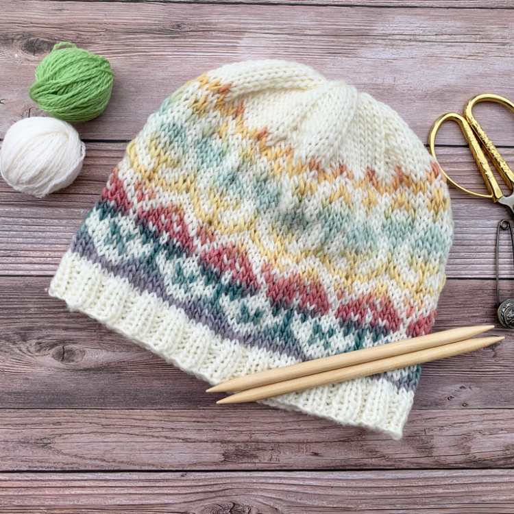 In Bloom Beanie Knitting Pattern