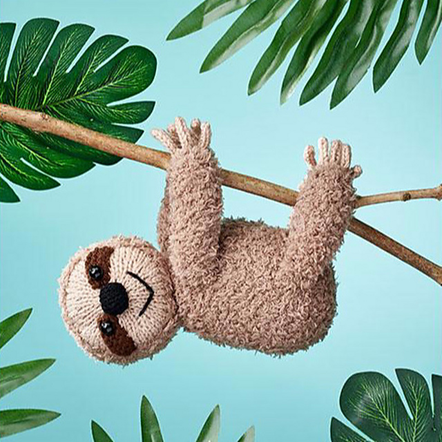 Lazy Daze Sloth toy knitting pattern