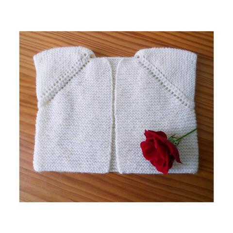 Baby Sleeveless cardigan / Seamless pattern